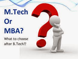 M.Tech or MBA,MBA After Completing B.Tech, M.Tech After Completing B.Tech, Choices After B.Tech,Comparison of M.Tech & MBA