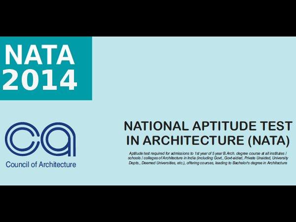 NATA Exam 2014 Application forms,NATA Exam 2014 registrations,NATA Exam 2014 details,NATA 2014 important details,NATA 2014 fees structure