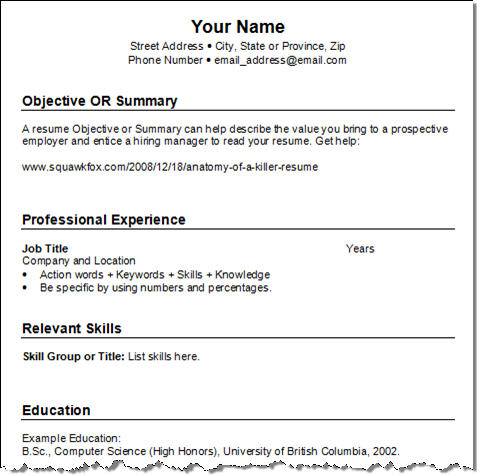Easy Resume Examples. Trending Resume Format Layout For