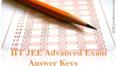 IIT JEE advanced exam 2015 answer keys, Answer keys of jee advanced exam 2015