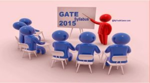 GATE 2015, GATE Exam 2015, GATE Syllabus exam 2015