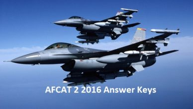 AFCAT 2 Answer Keys 2016, AFCAT 2 cut off 2016, Answer key for AFCAT 2 Exam 2016, Cut off List for AFCAT 2016, Merit List for AFCAT 2 2016